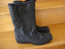 Women's Totes Black All Weather Foot Wear Fleece Lined Flat Heal Boots Size 9 M
