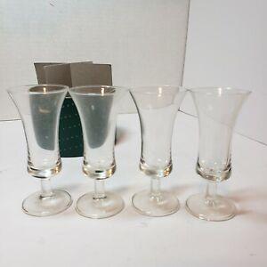 DANSK Cordial Glasses Set of 4 Original Round Box Barware Cocktail Vintage