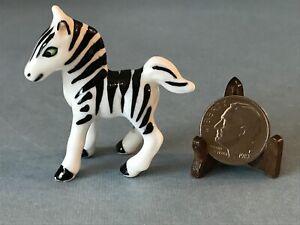 "Vintage Bug House Zebra Miniature Bone China 1 5/8"" Tall African Animal Figurine"