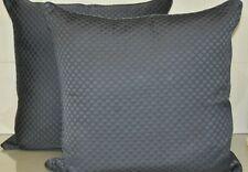 $1000 NEW Frette 2 PC Luxury Illusione SILK Mineral Blue Decorative Pillow EURO