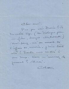 COLETTE Lettre autographe signée belle lettre