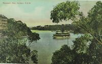 .SYDNEY, MOSMAN'S BAY NEW SOUTH WALES EARLY 1900s POSTCARD