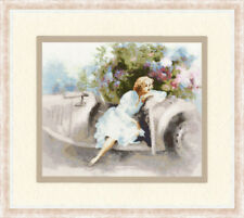 Counted cross stitch kit Day Of Dreams Woman in White Dress by Golden Fleece
