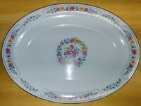 Liling Fine China Yung Shen Oval Serving Platter Keepsake Pattern in great cond.