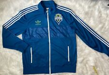 Adidas Seattle Sounders FC Men's Soccer Football Track Jacket Blue Size XL
