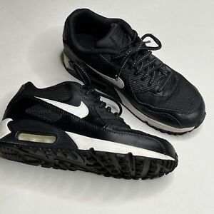 Nike Air Max 90 Summith Leather Sneaker Youth Size 4.5 Black Shoe