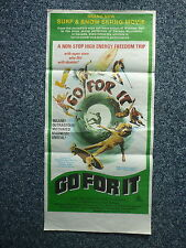 GO FOR IT Skateboarding Surfing Original 1970s Aussie DB Movie Poster