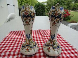 une paire de vase faience Rouen