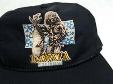 Vintage 80s Hawaii Koa Warrior Ipu Makini IKAIKA LAWAIA Fisherman Snapback Hat