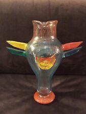 Rare Kosta Boda Kjell Engman Atelier Large Glass Face & Totem Pole Style Vase