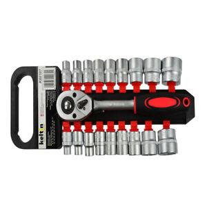 Set chiave a cricchetto reversibile 1/2 pollici e 18 bussole da 8-32mm esagonale