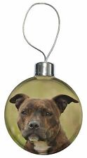 Staffordshire Bull Terrier Dog Christmas Tree Bauble Decoration Gift, AD-SBT15CB