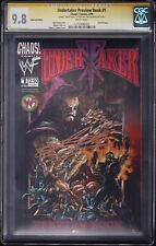 UNDERTAKER PREVIEW #1 CGC SS 9.8 • SIGNED UNDERTAKER WWE WWF • RED FOIL
