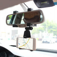 1x Universal Car Rearview Mirror Stand Holder Cradle Mount For Cell Phone GPS
