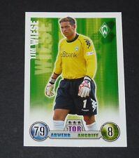 TIM WIESE WERDER BREMEN TOPPS MATCH ATTAX PANINI FOOTBALL BUNDESLIGA 2008-2009