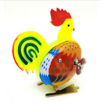 Vintage Metal Rooster Clockwork Wind Up Toy Classic Toy For Kids Children Gift