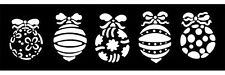 """Christmas Baubles FLEXIBLE MYLAR  8"""" x 4""""   RE USEABLE STENCIL"""