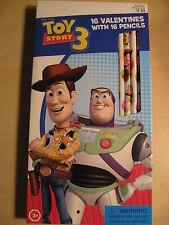 Disney Toy Story 3 - 16 Valentines w/16 Pencils