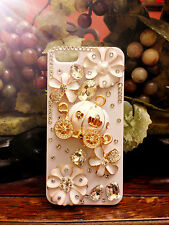3D Luxury iPhone SE 100% Handmade Cinderella Pumpkin Cart Wagon White Hard Case