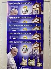 Romania Joint Vatican 5 Sheet Mnh