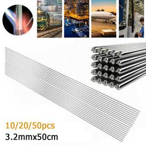 ALUMINIUM TIG WELDING FILLER RODS STICK WIRE 5m LENGTH 3.2mm 10/20/50pcs Silver