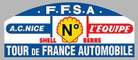 AUTOCOLLANT STICKER 30cm NUMERO AU CHOIX RALLYE TOUR DE FRANCE AUTO TA082