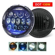 "DOT 7"" Inch 130W LED Headlight Halo DRL Turn Signal for Chevy C10 Camaro Pickup"