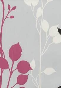 Moda Black Label Springtime Pink and Black Designer Wallpaper - Pattern 9904-C