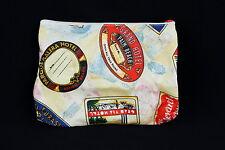 Estee Lauder Makeup Bag Vintage International Hotel Travel Sticker Print Fun