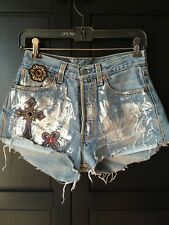 73fcf1be Vintage Levi's 501 Shorts Re/done Reworked Custom Womens Denim Size 27