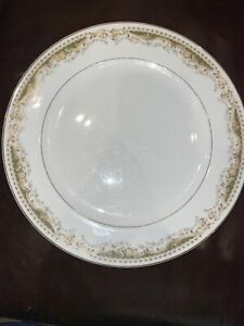 Signature Collection Queen Anne 113 Japan Fine China Gold Rim Tan & Green