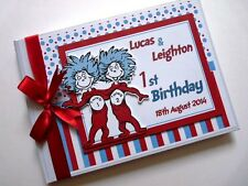 Personalised Book Characters Boy/Girl /First Birthday Guest Book - Any Design