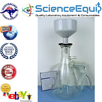 500 mL FILTRATION FLASK BUCHNER FUNNEL VACUUM PUMP FILTER PAPER / Filtration Set