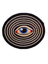 """Soul Eye Iron-On/Sew-On Embroidered Patch, Emo Punk 3.5"""" Evil Eye Patch"""