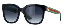 *NEW AUTHENTIC* GUCCI GG0034S 002 BLACK GREEN FRAME, GREY GRADIENT LENS,54mm