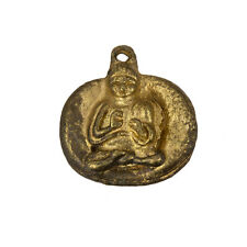 Antique Gold Meditating Sitting Buddha Pendants 22mm Sold as a Pack of 1 (C85/6)