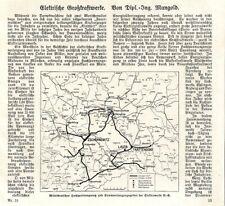 Elektrische Großkraftwerke Mitteldeutschland Zschornewitz Lauta Trattendorf 1926