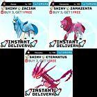 ✨SHINY✨pokemon sword and shield 6IV ZACIAN ZAMAZENTA ETERNATUS Instant Delivery