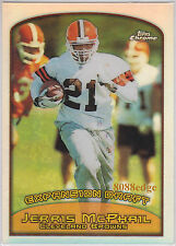 1999 TOPPS CHROME REFRACTOR:JERRIS McPHAIL #130 CLEVELAND BROWNS EXPANSION DRAFT
