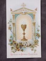 image pieuse souvenir de premiere communion 1898