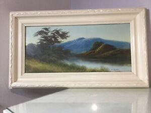 Vintage Landscape Oil Painting Framed and Signed C. Hans