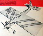 """Berkeley SUPER DUPER ZILCH PLAN to Build 52"""" Old Time Stunt Model Airplane"""