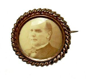"1896 WILLIAM MCKINLEY 1.25"" campaign pin pinback button political presidential"