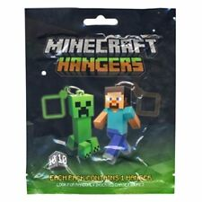 "1x OFFICIAL Mine craft 3"" inch Hangers Keychain Sealed and random 10 to collect"