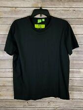 HUGO BOSS L T-Shirt Green Label Women's Black Short Sleeve Earth Air Water Fire