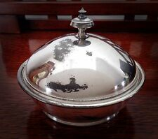 Antique Simpson Hall Miller & Co. Silverplate Butter Dish - 1800s - Treble Plate