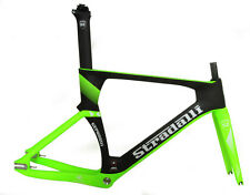 STRADALLI FULL CARBON FIBER TRACK BIKE FIXIE NEON GREEN FRAMESET 51CM SMALL S