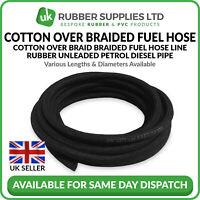 25m Roll Rubber Fuel Hose Pipe Line Unleaded Petrol Diesel Oil Type B Braided