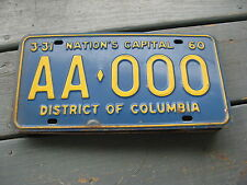 1960 60 DISTRICT OF COLUMBIA DC SAMPLE LICENSE PLATE TAG BUY IT NOW= ORIGINAL