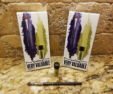 """LOT OF 2☆MAC~Very Valuable~Pigment Kit """"CHARTREUSE"""" & Small Eye Shader Brush 248"""